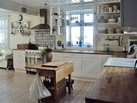 Vintage Kitchens Designs | 28 vintage wooden kitchen island designs digsdigs