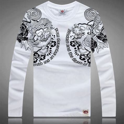 tattoo t shirts for men 2015 new s printing t shirts casual floral