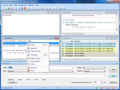 port monitor port analyzer serial port monitor software