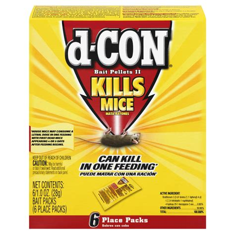 rodenticide rodent  mouse bait pellets  count