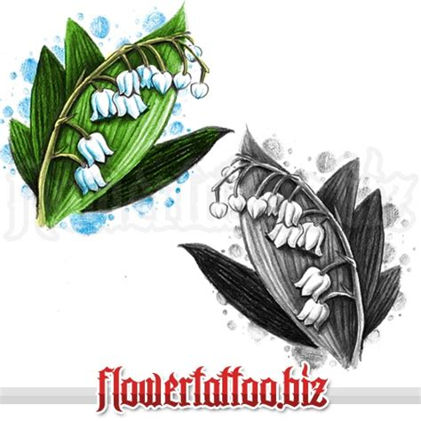 lily of the valley tattoo designs of the valley flower tattoos ideas