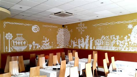 restaurant wall murals murals and glartique