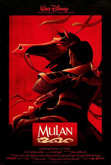 mulan disney film mulan 1998 original movie poster adventure animation