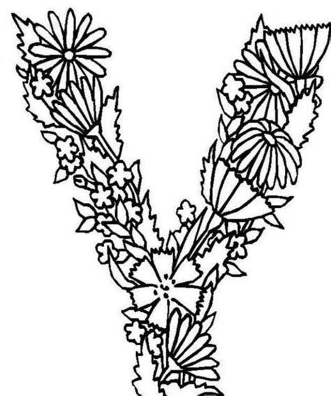 alphabet coloring pages with flowers 141 best images about abecedarios on pinterest hand