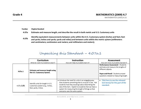 unpacking common standards template unpacking grade math common standards 1000