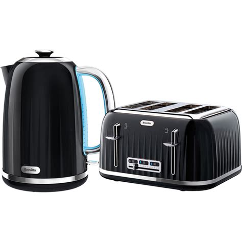 Black Breville Toaster breville impressions collection kettle and toaster bundle