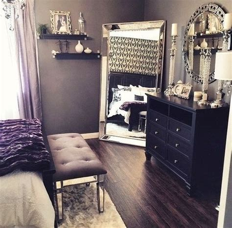 romantic sexuality in bedroom beautiful bedroom decor black dresser silver mirror silver candles black white silver decor