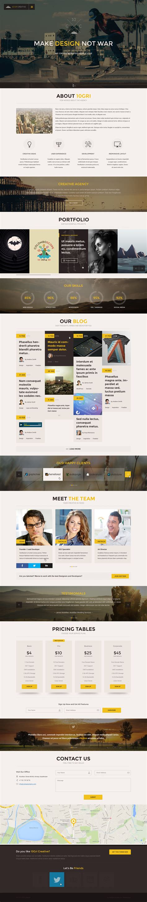 Html5 One Page Website Templates With Ui Ux Experience Design Graphic Design Junction Ux Website Templates