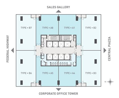 Executive Tower B Floor Plan For Sale Kl Gateways Corporate Office Towers Kl