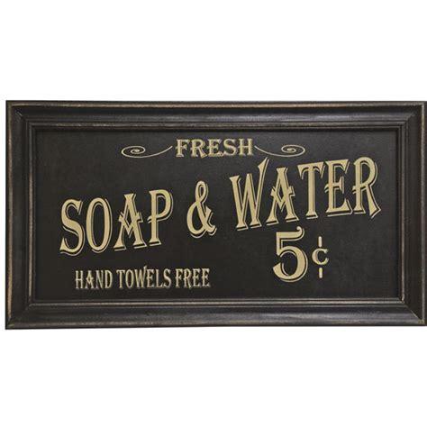 vintage bathroom sign vintage soap and water sign