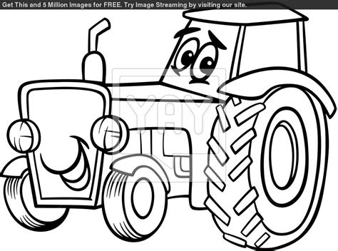 free coloring pages of johnny tractor