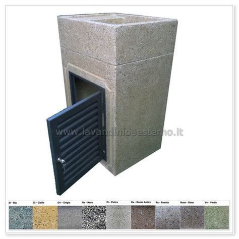 lavabo per giardino lavabo da esterno 293 con sportello in grafite 299