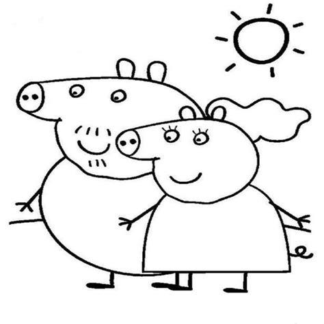peppa pig para colorear pintar e imprimir dibujos de peppa pig para colorear y imprimir