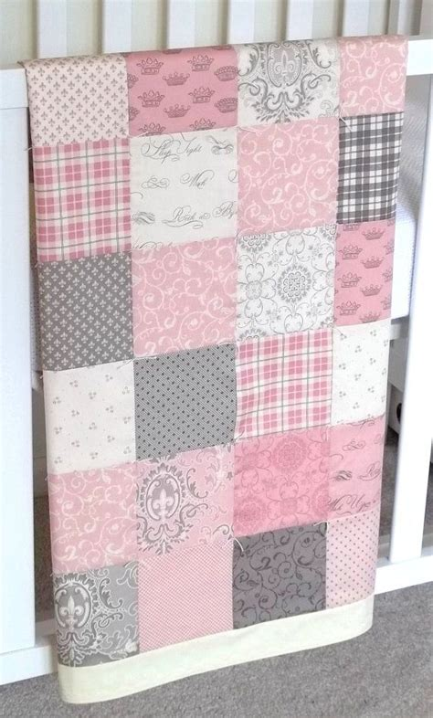 Patchwork Quilt Baby - modern patchwork baby blanket pink infant crib