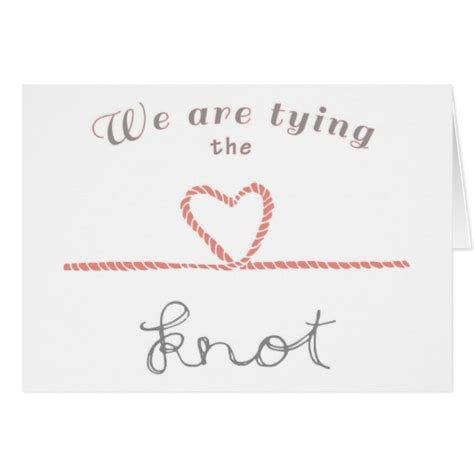 Wedding Wishes Tying The Knot by Wedding Day Card We Are Tying The Knot Zazzle