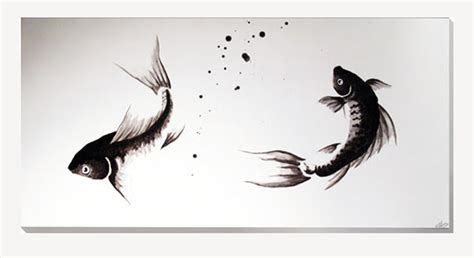 cuadros de japonesas estudio delier cuadro carpas zen n 125x60cm