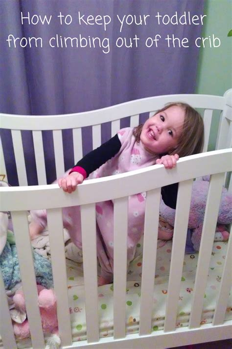 how to keep your toddler from climbing out of the crib