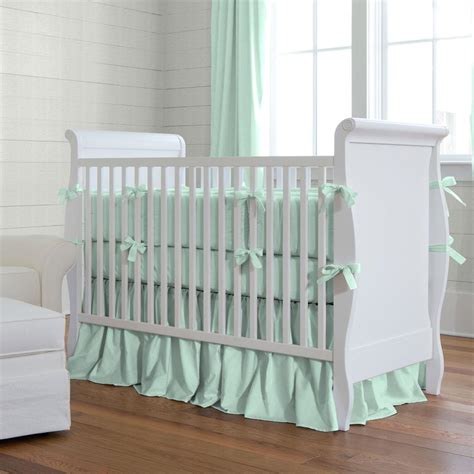 Mint Green Crib Bedding Solid Mint Crib Bedding Girl Crib Bedding Carousel Designs