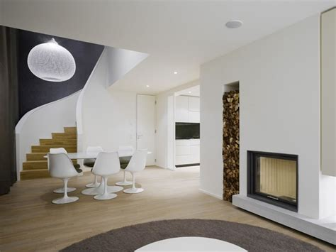 Duplex Home Interior Design Interior Design A Duplex Apartment With A Fireplace In The Quant Complex