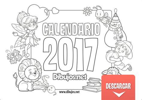 Calendario Y Sus Dibujos Calendario Infantil 2017 Para Imprimir Y Colorear