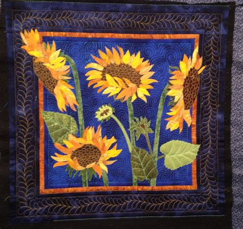 Sunflower Quilt by The Secret Of Mrs Meatloaf In Need Of Sunflowers