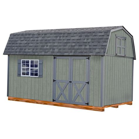 10 X 16 Wood Shed Kit With Floor - best barns meadowbrook 10 ft x 16 ft wood storage shed