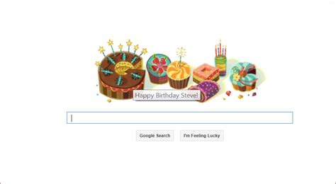 google images happy birthday even google wished me a happy birthday gourmet dad don
