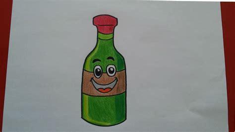 dibujos realistas botella como dibujar una botella de vino paso a paso how to draw