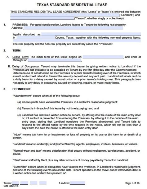 lease template word free residential lease agreement pdf word doc
