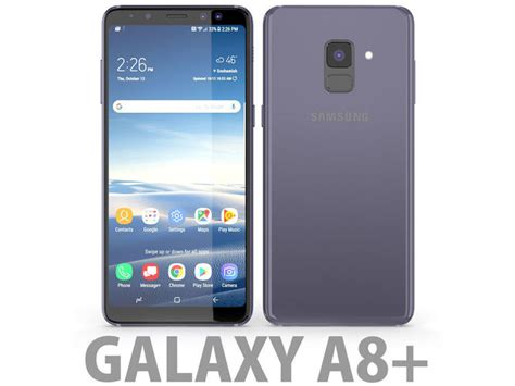 Samsung Galaxy A8 Orchid Gray 3d samsung galaxy a8 plus 2018 orchid grey cgtrader