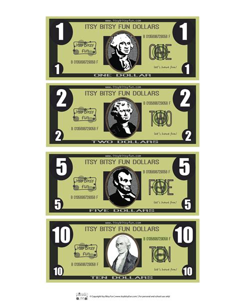 Print Money Template by Free Printable Play Money Template Templates At