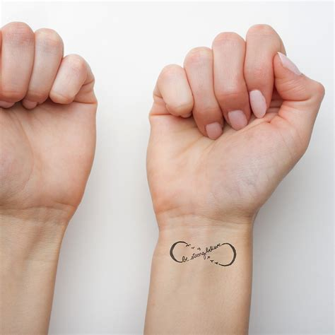 follow black tattoo temporary tattoo tattify