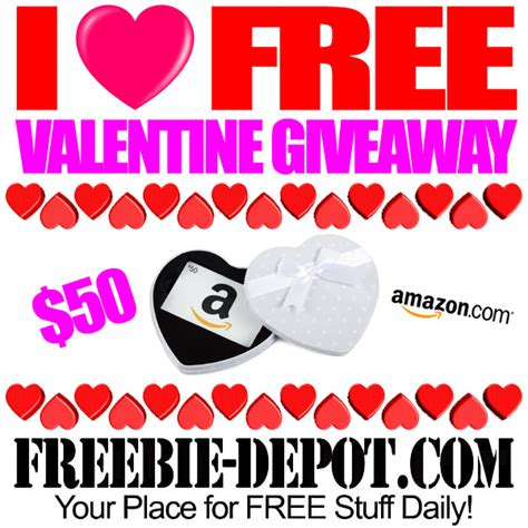 I Love Giveaways - i love free valentine giveaway free 50 amazon gift card ends 2 14 16