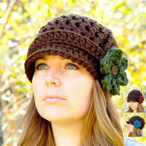 crochet pattern womens hat women s hat crochet newsboy hat for women brimmed