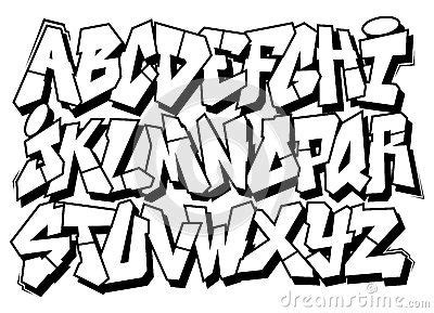 royalty free spray paint font classic graffiti font type alphabet by foreks