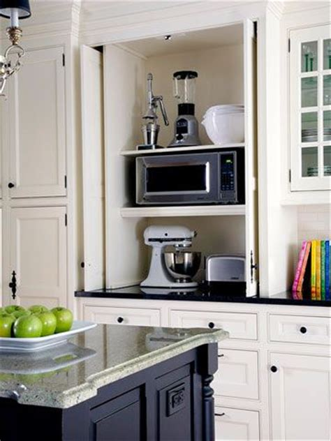 appliance cabinets kitchens 25 best ideas about built in microwave on pinterest