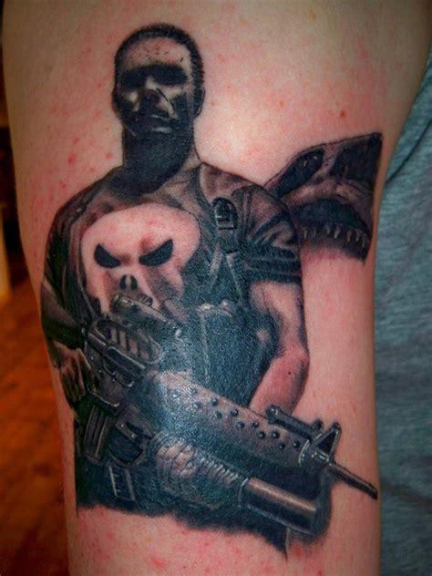 batman punisher tattoo cool comic book tattoos