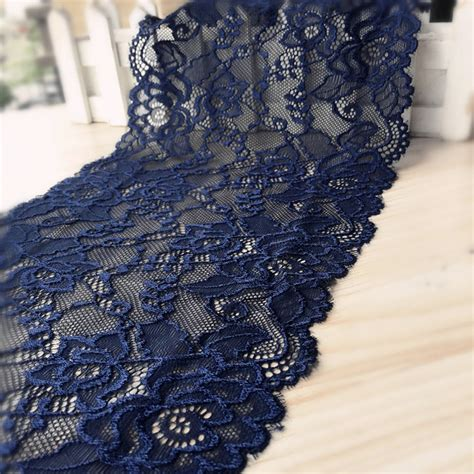 Diy Ribbon Lace Baker S Twine 18 18cm width navy elastic lace trim accessory diy ribbon lace swiss lace bridal headband