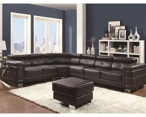 Coaster Sectional Sofa W Adjustable Headrests Ralston Co Coaster Sectional Sofa