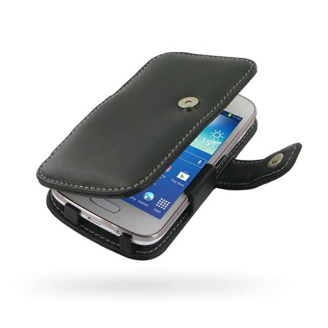 Casing Samsung Ace 3 samsung galaxy ace 3 leather flip cover pdair sleeve