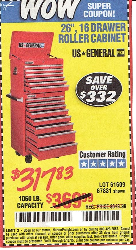 26 16 drawer roller cabinet roller cabinet 26 quot 16 drawer us general save 332 00 with