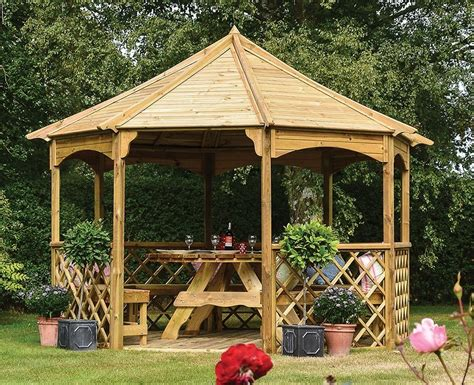 Outdoor Patio Gazebos Garden Wooden Gazebo Octagonal Gazebos Pergola Outdoor Patio Canopy Shelter Ebay