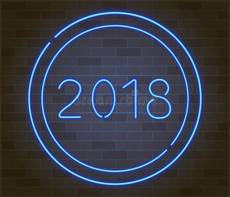 glowing 2018 happy new year happy new 2018 year vector illustration of