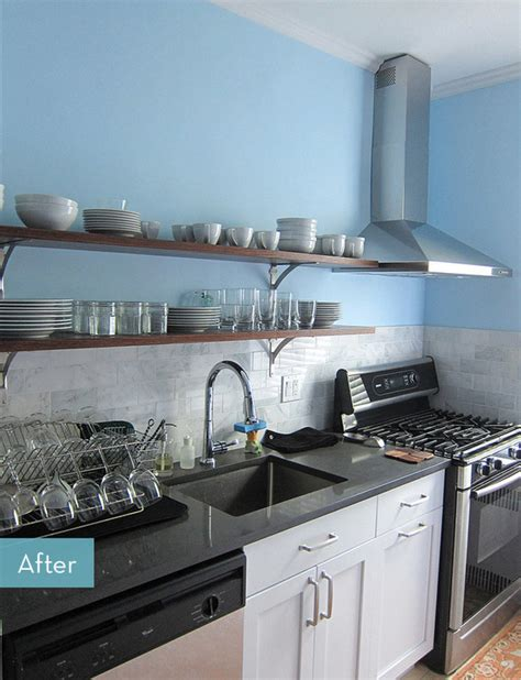 galley kitchen makeovers before and after before and after an affordable galley kitchen makeover