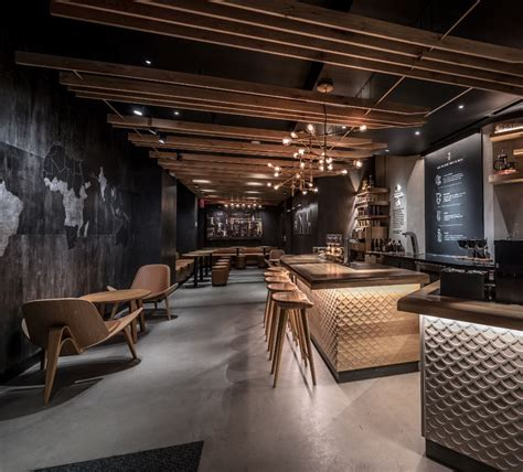 Modern Kitchen Lighting Ideas by Starbucks Reserve Coffee Takes Center Stage In New York