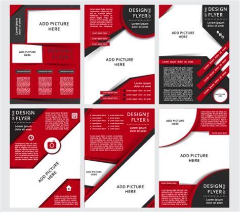 100 red brochure template brochure design template