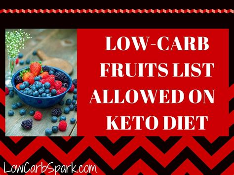 fruit on keto low carb fruits list allowed on keto diet