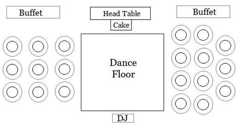 wedding reception floor plan ideas wedding reception floor plan head table buffet tables