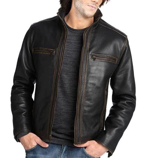 Handmade Leather Jackets - handmade new black leather jacket s bomber