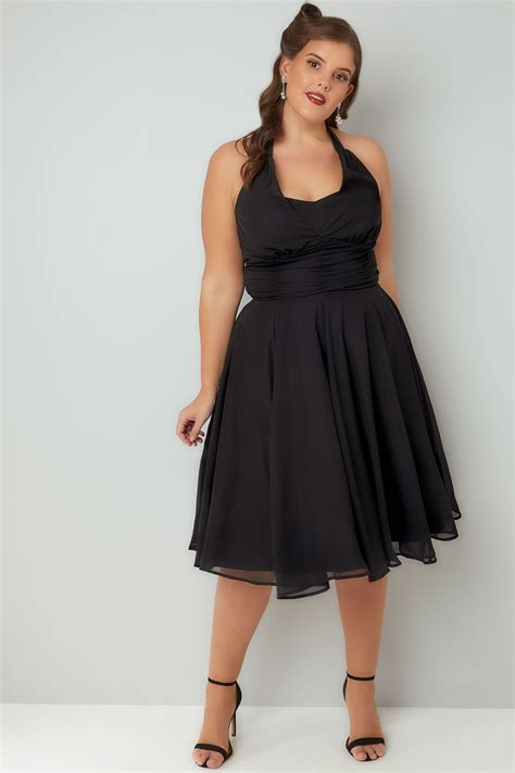 chiffon hairstyle hell bunny black ruched chiffon 50s style monroe halter